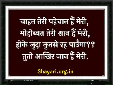 Chahat Teri hindi love Shayari