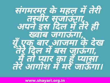 Tere Dil Me Bas Jaunga Hindi Love Shayari