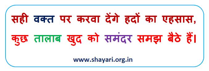 Sahi Vakt Par Karva Denge Hindi Shayari