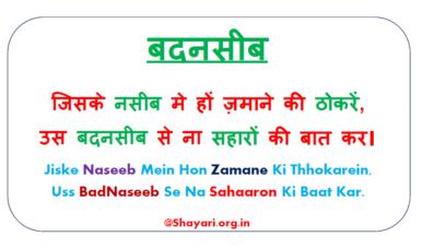Jiske Naseeb Mein Hon Zamane Ki Thokar