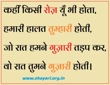 Hamari Halat Tumhari Hoti Hindi Sad Shayari