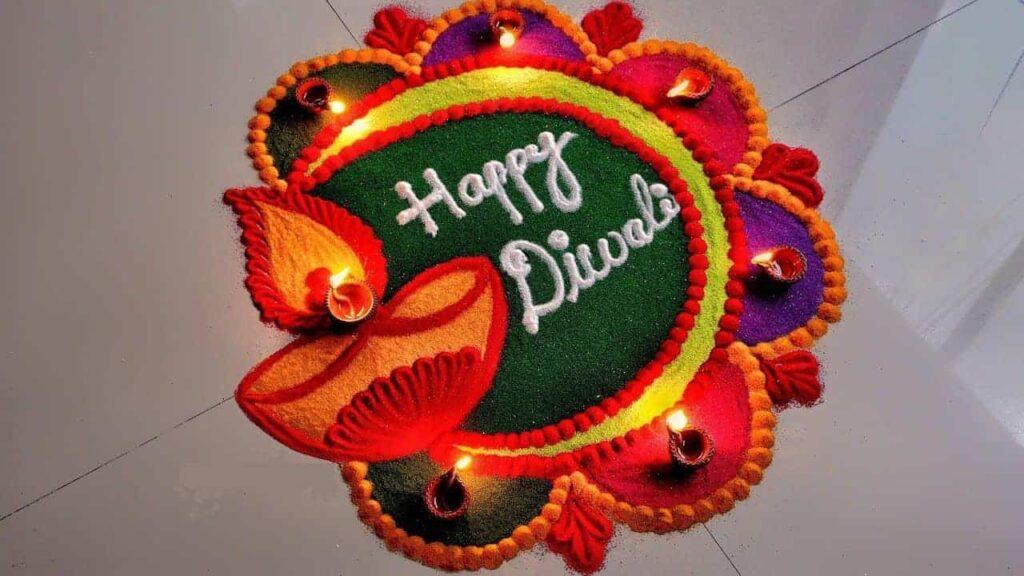 Attractive Deepawali rangoli